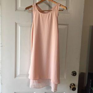 Francesca's Annabella Pink Layered Chiffon Dress S